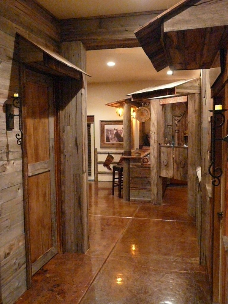 Wild wild west the lodge at spruce creek for Western basement ideas